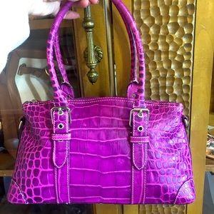 Vintage purple croc embossed Dooney & Bourke bag